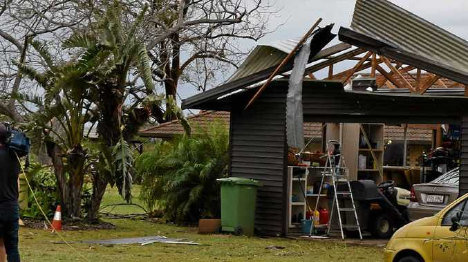 CYCLONIC CELL: Wild weather conditions tore through Fernvale on Tuesday afternoon destroying houses and leaving people homeless. There is a possibility these may occur across the Downs.